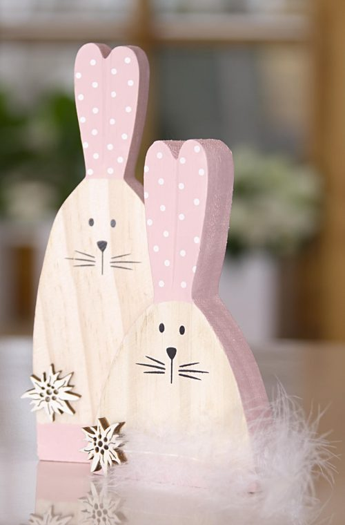 Osterhase aus Holz als Paar | Allgäu Deko