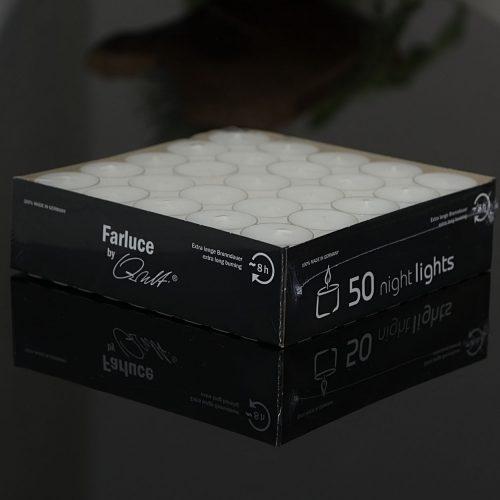 50x Teelicht NIGHTLIGHT   Allgäu Deko