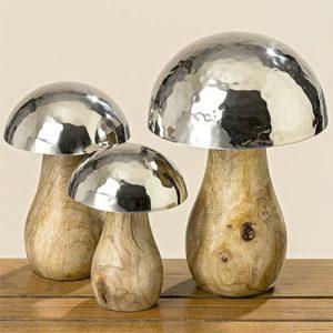 Holzpilz Mango mit Edelstahl Hut | Allgäu Deko