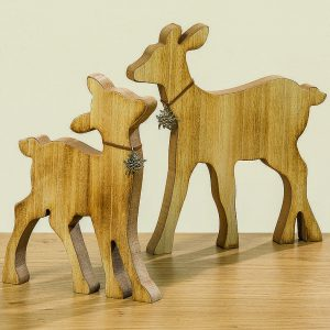 Reh aus Holz | Allgäu Deko