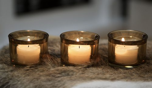 Glas Teelichthalter | Allgäu Deko
