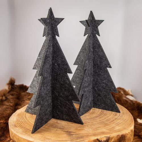 3D Weihnachtsbaum Tannenbaum Filz anthrazit groß | Allgäu Deko