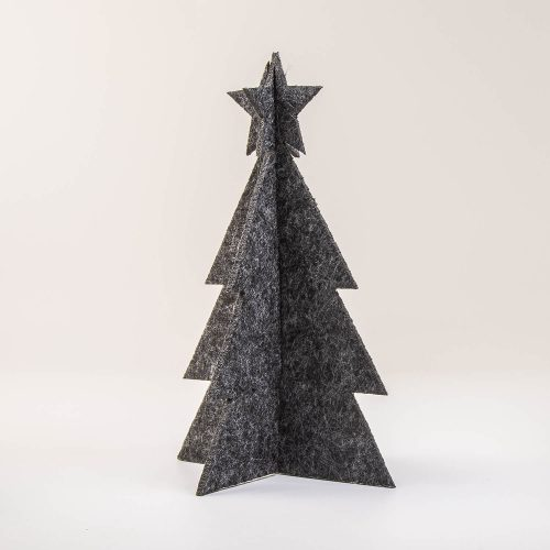 3D Weihnachtsbaum Tannenbaum Filz anthrazit | Allgäu Deko