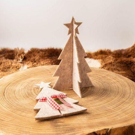 3D Weihnachtsbaum Tannenbaum Filz mit Band | Allgäu Deko
