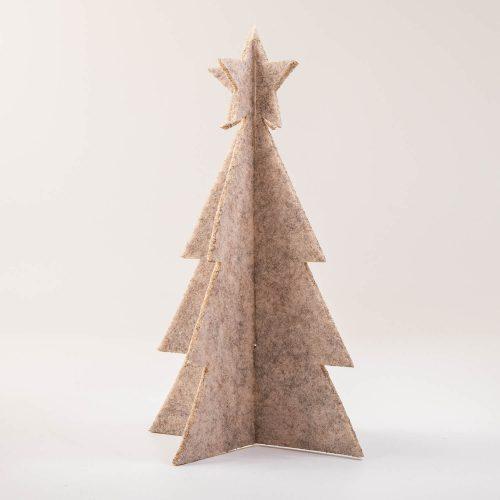 3D Weihnachtsbaum Tannenbaum Filz beige | Allgäu Deko