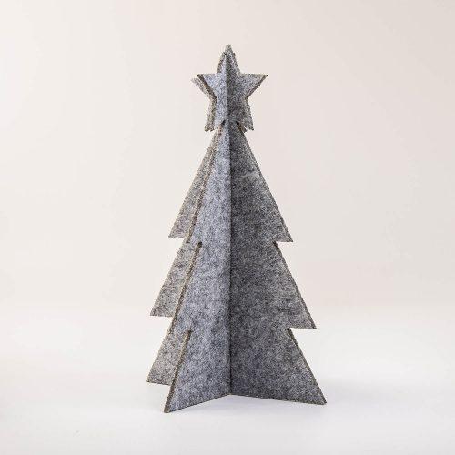 3D Weihnachtsbaum Tannenbaum Filz grau | Allgäu Deko