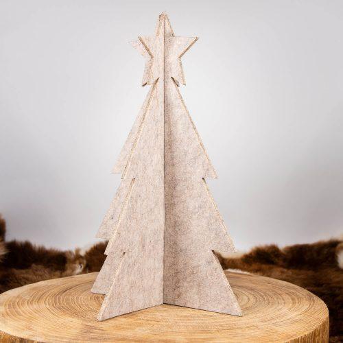 3D Weihnachtsbaum Tannenbaum Filz beige groß | Allgäu Deko