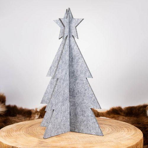 3D Weihnachtsbaum Tannenbaum Filz grau groß | Allgäu Deko