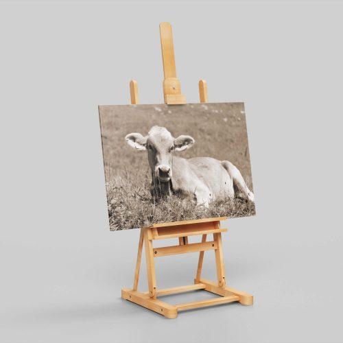 Kuh auf Leinwand   Allgäu Deko