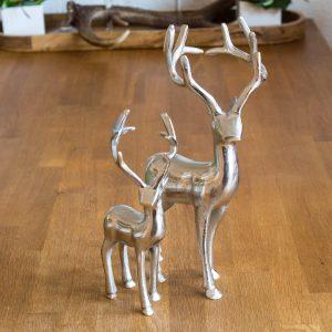 Hirsch aus Aluminium | Allgäu Deko