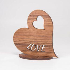 Herz aus Holz Nuss | Allgäu Deko