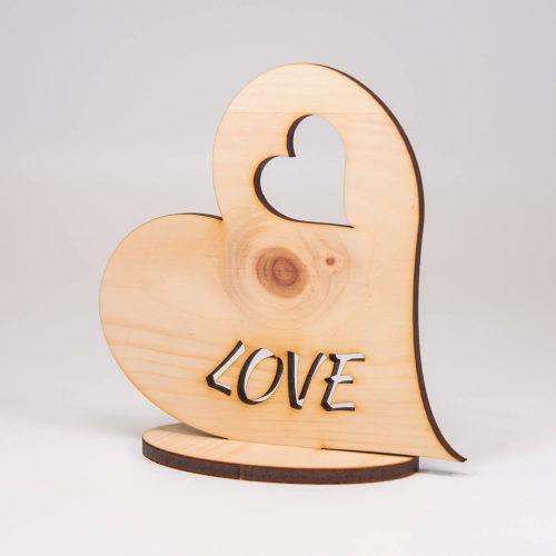 Herz aus Holz Zirbe | Allgäu Deko