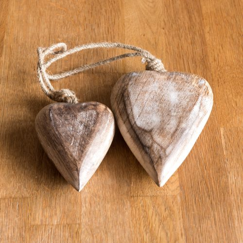 Holzherz aus Mangoholz | Allgäu Deko