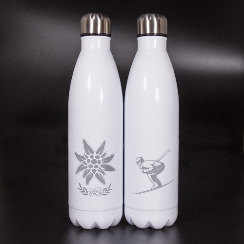 Isolierflasche weiß 750ml | Allgäu Deko