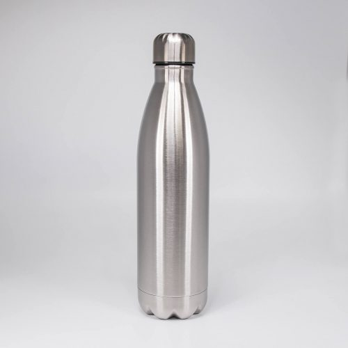 Isolierflasche Edelstahl silber 750ml   Allgäu Deko