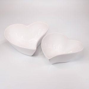 Keramikschale Herz im 2er Set | Allgäu Deko