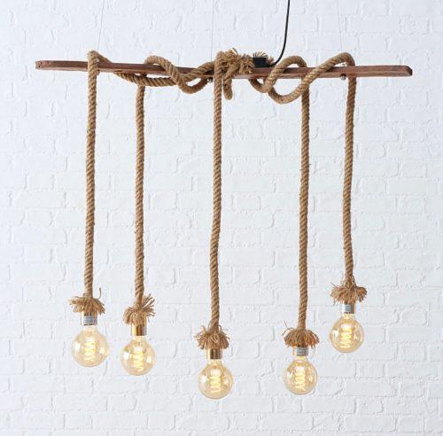 Lampe mit 5 Seile | Allgäu Deko