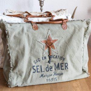 SEL de MER Tasche aus Leinen und Leder | Allgäu Deko