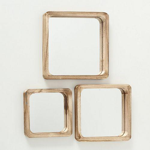 Spiegel im Holzrahmen 3er Set | Allgäu Deko