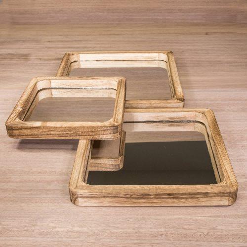 Spiegel im Holzrahmen | Allgäu Deko