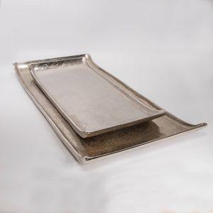 Tablett Aluminium ohne Griff Set | Allgäu Deko