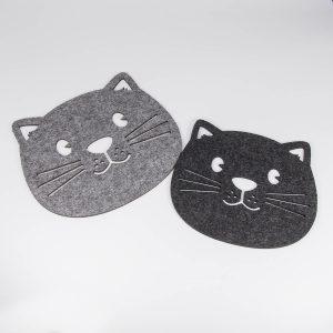 Topfuntersetzer aus Filz in Katzenform Paar | Allgäu Deko