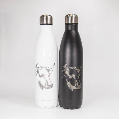 Isolierflasche mit Kuh   Allgäu Deko