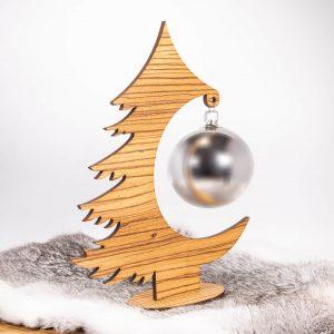 Weihnachtsbaum aus Holz Zebrano | Allgäu Deko