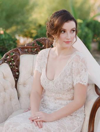 Braut im Garten | Allgäu Deko