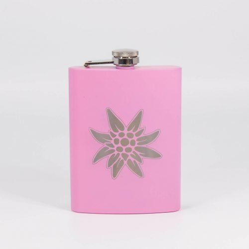 Flachmann rosa Edelweiss | Allgäu Deko