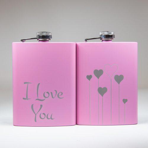 Flachmann rosa Love | Allgäu Deko
