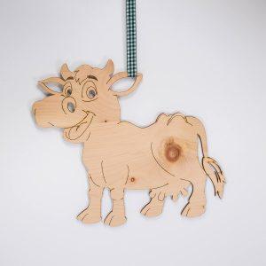 Glückliche Kuh aus Zirbenholz | Allgäu Deko