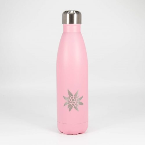 Isolierflasche rosa Edelweiss | Allgäu Deko