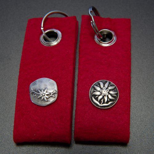 Schlüsselanhänger Filz rot | Allgäu Deko