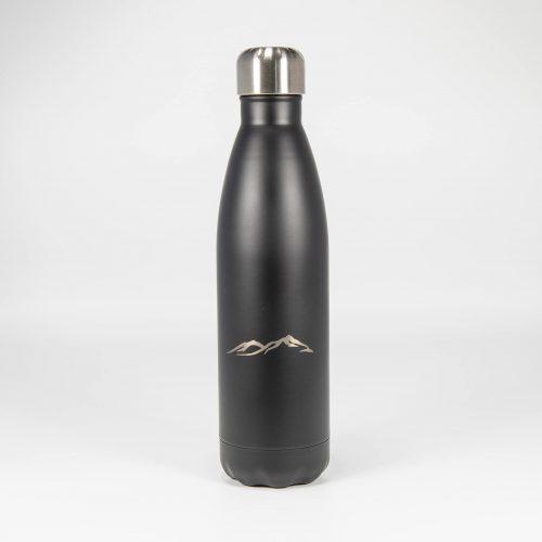 Isolierflasche schwarz Berge | Allgäu Deko