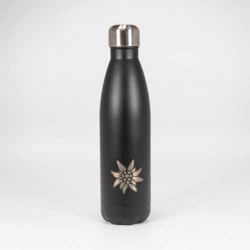 Isolierflasche schwarz Edelweiss | Allgäu Deko